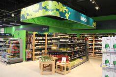 Perekrestok flagship supermarket by Retail Branding GmbH, Moscow Russia food
