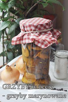 Grzyby w occie Favorite Recipes, Vegetables, Food, Essen, Vegetable Recipes, Meals, Yemek, Veggies, Eten