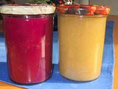 Apfelmus und Schlehen Sirup
