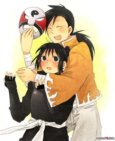 Cute little picture of Ling Yao, and Lan Fan.