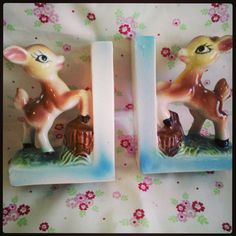 Charity shop finds, Deer Love... pair of book ends that could NOT resist!! xox (LB)