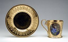 Cup and Saucer, Georgius J. Van Os  1812-1813LACMA Collections Online