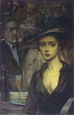 Илья Глазунов. Незнакомка. Ilya Glazunov. Unknown Woman.
