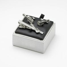 Tie Bar / Cufflink Set - Guitar Cufflink Set, Ministry, Guitar, Gift Ideas, Tie, Gallery, Gifts, Accessories, Presents