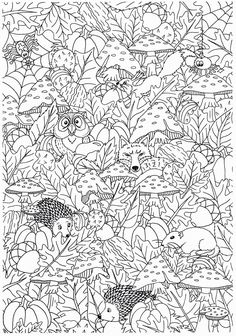 Cute Coloring Pages, Printable Coloring Pages, Coloring Sheets, Coloring Books, Free Adult Coloring, Autumn Crafts, Dot Painting, Art Projects, Instagram