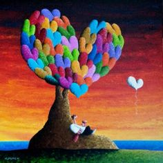 A Gift by Wholeheartedly- Happy, Colorful Heart Art by Coplu available at Lahaina Galleries   call: 808-874-8583 or 808-661-MAUI