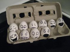 Funny Eggs by Just Be Happy Crochet, via Flickr