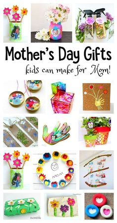 Mother's Day Homemade Gifts for Kids to Make – Buggy and Buddy Over 20 Mother's Day Homemade Gifts: Gorgeous DIY projects for kids to make mom- including handprint crafts, necklace crafts, gifts made from egg cartons and more! Make wonderful keepsakes! Homemade Mothers Day Gifts, Diy Gifts For Mom, Unique Mothers Day Gifts, Diy Father's Day Gifts, Mothers Day Crafts For Kids, Mother's Day Diy, Crafts For Kids To Make, Diy Crafts For Kids, Homemade Gifts