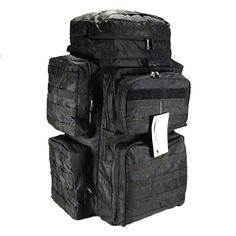 30 4500cu in Tactical Hunting Camping Hiking Backpack OP830 BK Black *** You can find out more details at the link of the image.