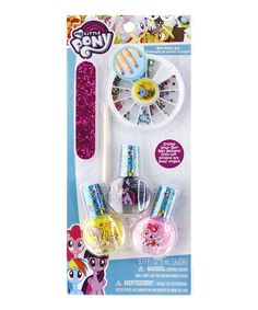 Take a look at this My Little Pony Nail Polish & Gem Wheel Set today!