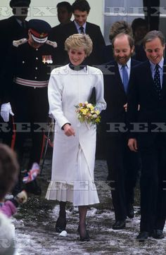 January 20, 1987 Princess Diana at Tadworth Court Hospital for Children, Tadworth, Surrey, Britain