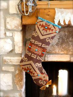 Santa Fe Christmas Stocking ....  Sublime Santa Fe by ShabbyRanch