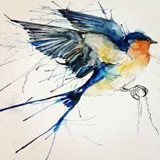 Image result for bluebird watercolour tattoo