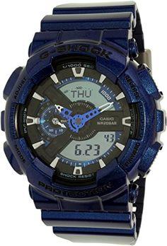 f19253540245 Amazon.com  Casio G-Shock Blue-Tone Analog Digital Dial Resin Quartz Male  Watch GA110NM-2A  Casio  Watches