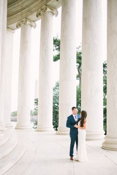 Photography : Megan Chase Photography Read More on SMP: http://www.stylemepretty.com/washington-dc-weddings/2015/06/01/romantic-dc-cherry-blossom-engagement-session/