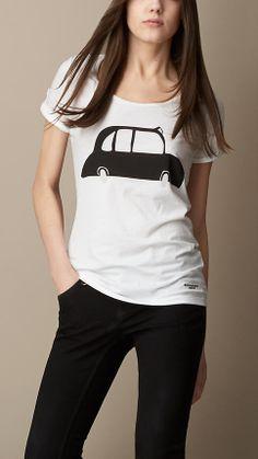 Burberry Brit London Graphic Cotton T-Shirt #LaValléeVillage #ATouchOfChic