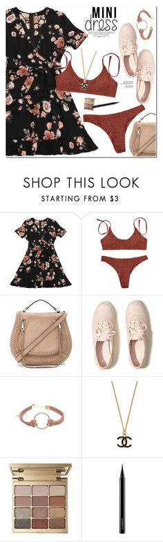 """""""Mini Dress"""" by oshint ❤ liked on Polyvore featuring Rebecca Minkoff, Hollister Co., Stila and MAC Cosmetics"""