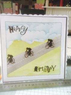 Card clarity stamps joy steels