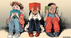 Las  personas libro no se limitan a ver, oír y callar.