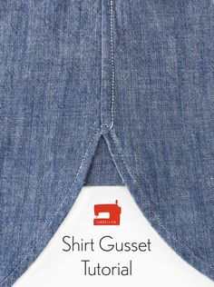 Liesl shows you how to create and sew a shirt gusset. Download the free shirt gusset pattern piece and use this tutorial to strengthen and add a pop of color or a print to the side of your shirt.