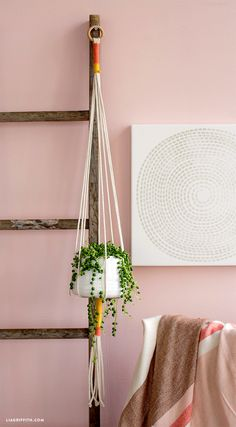 House Plants inYour Own DIY Hanging Planter hanging rope planterhanging rope planter Diy Hanging Planter, Hanging Rope, Diy Planters, Planter Ideas, House Plants Decor, Plant Decor, Rope Crafts, Macrame Design, Macrame Projects