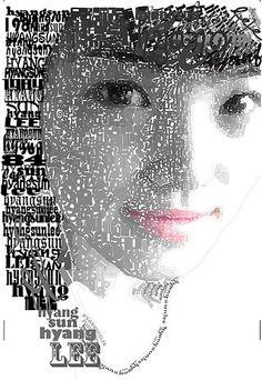 typographic portrait illustrator cs3