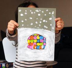 Elmer sous la neige | Jouonsensemble.fr