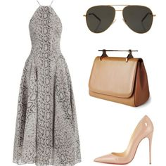 Untitled #352 by laviedefashion on Polyvore featuring Zimmermann, Christian Louboutin, Yves Saint Laurent and M2Malletier