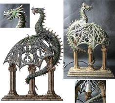 Dragon Lamp, by Nemesis Now crested by *dashinvaine on deviantART. http://www.nemesisfigures.co.uk/index.htm