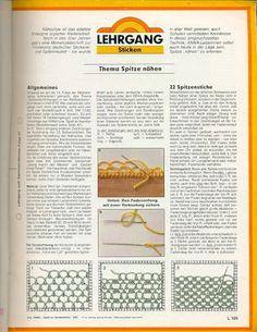 Nahspitze / Needle lace