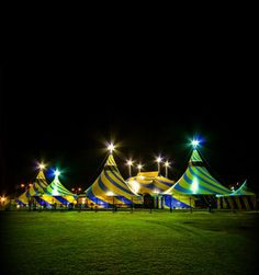 Love the look of these Cirque Du Soleil tents