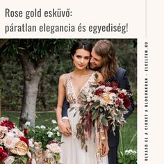 Rose gold esküvői stílus: elegancia és egyediség  A rose gold árnyalat sokak kedvence, így nem meglepetés, ha Te is hasonló színvilágban gondolkodsz az esküvődet illetően. Nem túl kislányosan rózsaszínes, nem is túl cicomásan aranyozott, hanem a kettőt ötvözve elegáns, finom és nőies árnyalatot képvisel. Bridesmaid Dresses, Wedding Dresses, Rose Gold, Fashion, Elegant, Bridesmade Dresses, Bride Dresses, Moda, Bridal Gowns
