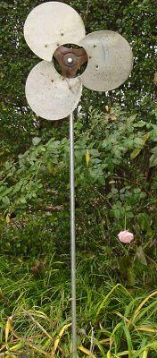 Garden Flower made from a fan blade