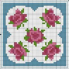 free cross stitch chart - biscornu - Google 検索