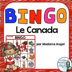 Canada Themed Bingo Game in French