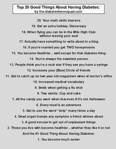 Top 20 Cool things About Having Diabetes