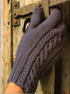 Men's Cable gloves