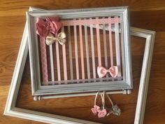 Hair Bow Holder, Baby Girl Nursery, Wall Organizer, Headband Holder, HairClip Holder, Bow Organizer, Jewelry Organizer by GraceandJewelsBow on Etsy https://www.etsy.com/listing/280814050/hair-bow-holder-baby-girl-nursery-wall