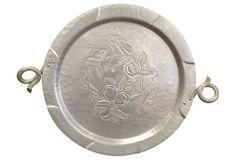 Hammered Aluminum Platter on OneKingsLane.com Mother's Home Demonstration Club made hammered tin trays in the 1950's.