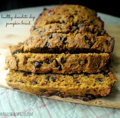 Chocolate Chip Pumpkin Bread (two ways)   Hungry Healthy Girl