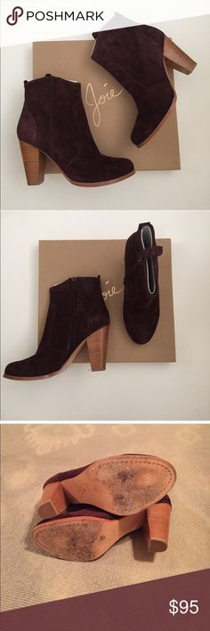 Joie booties- size 9 Reposh. Joie booties in oxblood- size 9. These boots are gorgeous! The color is beautiful- I just needed a higher heel. Heel height is @ 3 inches. Joie Shoes Ankle Boots & Booties
