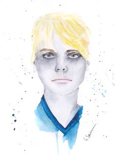 'Gee' Gerard Way Portrait by Guinevere Saunders Artist Watercolor on 140 lb Watercolor Paper 2014