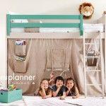Tipi Loft Bed - Over 20 Colours Bedroom Wardrobe, Bedroom Loft, Kids Bedroom, Kids Rooms, Safari Bedroom, Bunk Bed Fort, Bunk Beds, Unique Kids Beds, Gender Neutral Bedrooms
