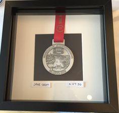 Marathon medal display by SarahsWorkshopUK on Etsy Diploma Frame, Plastic Glass, Running Inspiration, Frame Display, Marathon Running, Box Frames, Coins, It Is Finished, Room