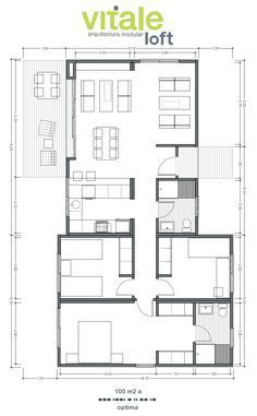 great floor plan for solar passive home in australia Dream House Plans, Modern House Plans, Small House Plans, House Floor Plans, Craftsman Floor Plans, 100 M2, Casas Containers, Apartment Floor Plans, Apartment Layout