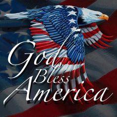 god bless america/(eagle)