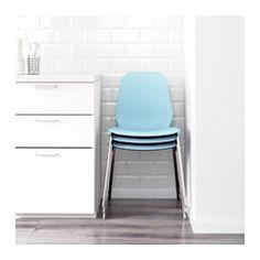 LEIFARNE Tuoli, vaaleansininen, Broringe kromattu - IKEA