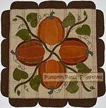 Pumpkins Wool Mat