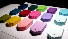 50 SMALL DECORATIVE Color Gift Tags You Choose by EternalJournals, $5.50