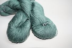 100% milk Lace Yarn Hand dyed Milk Lait Seriphos Green Quartz by 1azclace